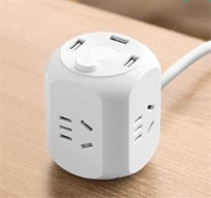 4 power outlets & 3 usb hub (white colou