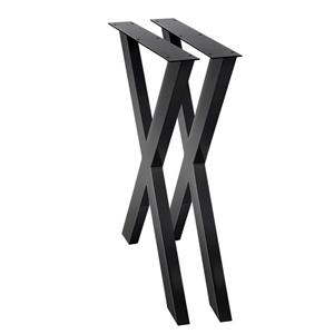 2x Metal Legs Coffee Dining Table Steel
