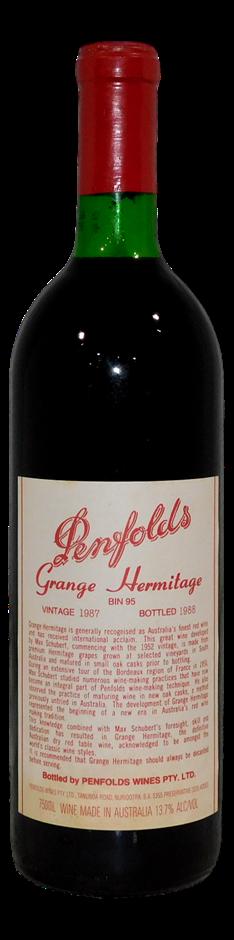 Penfolds Bin 95 Grange Shiraz 1987 (1x 750mL)