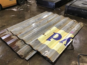 3 x Sheets of Container Steel