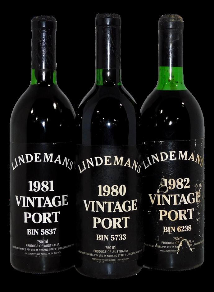 Vertical Pack of Lindemans Vintage Port 80/81/82 (3 x 750mL), NSW
