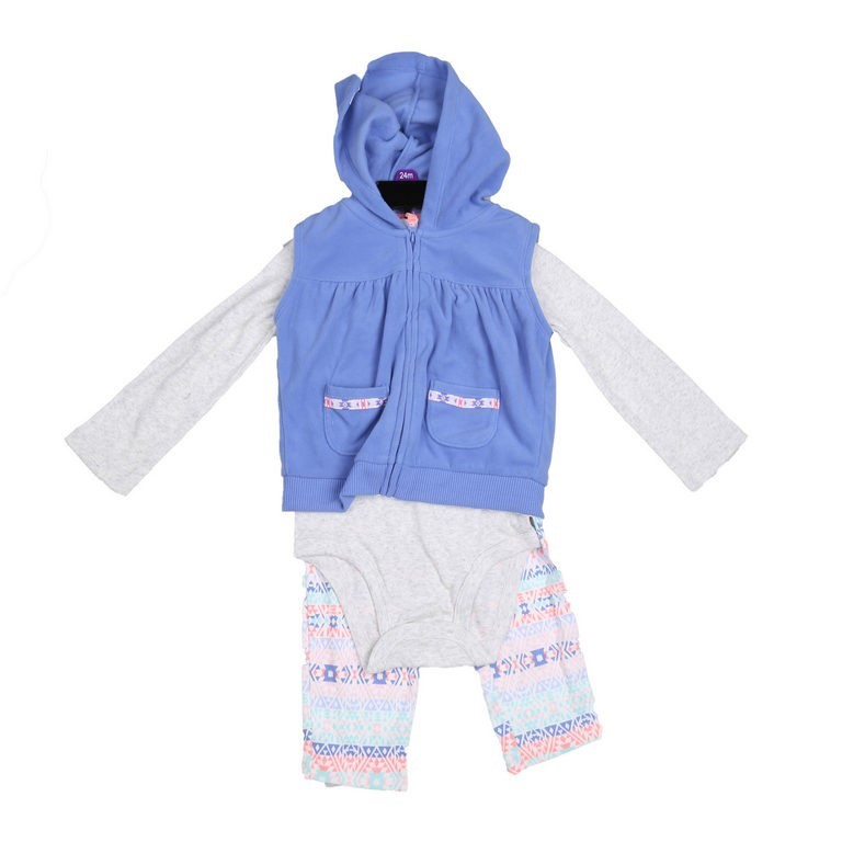 2 x CARTER`S 3pc Girl`s Winter Clothing Sets, Size 18M, Incl; Leggings, Ons