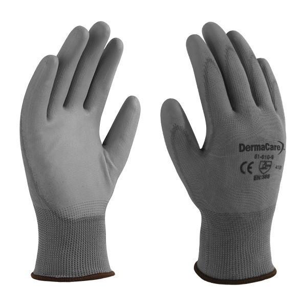 24 x DERMA CARE Multi-Purpose Light Weight Gloves Size L, Machine Knit Nylo