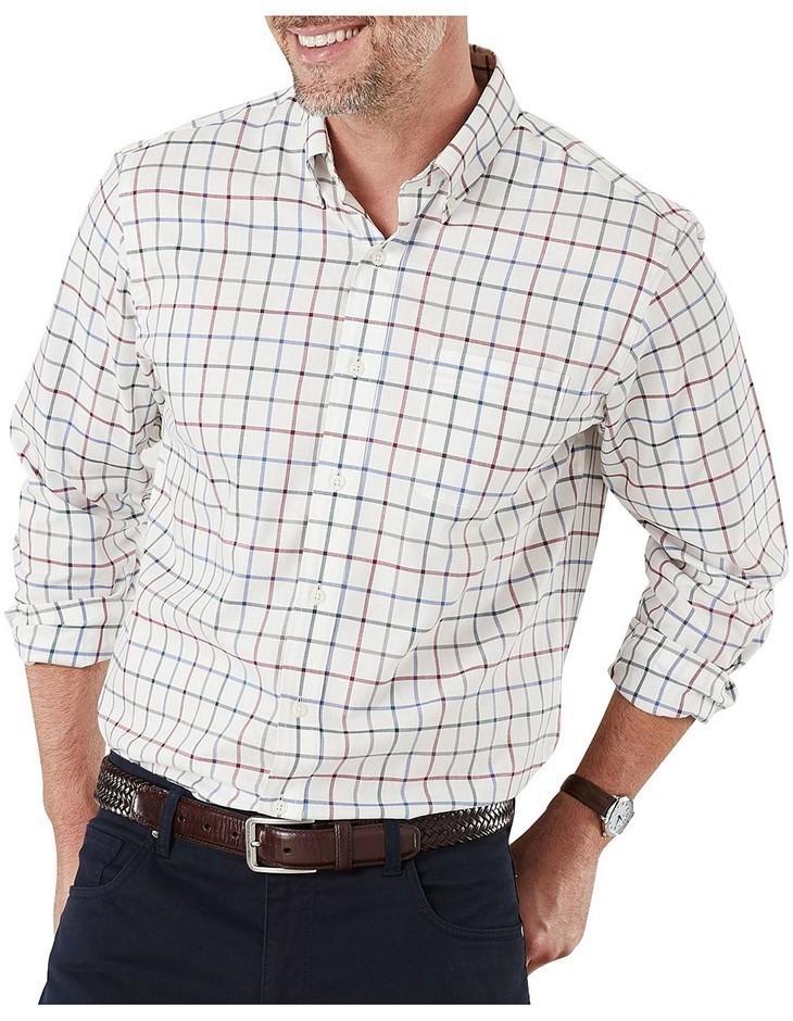 GAZMAN Easy Care Multi Check Shirt. Size XXL, Colour: Multi. 100% Cotton. B