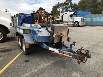 2008 Trans Tank Dual Axle Fuel Trailer with Yanmar Diesel Engine