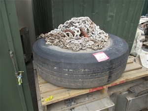 Mooring Block With Galvanised Chairs