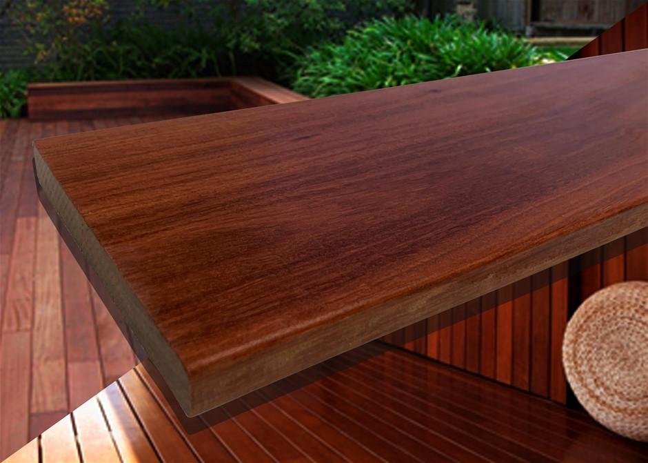 20.52m² of Queensland Red Ironbark Hardwood Decking - 135mm x 19mm