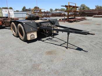 2009 Burns Engineering Dual Axle Converter Dolly Trailer