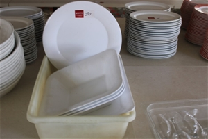 Assorted Plastic Serving Dishes