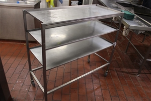 3 Tier Stainless Trolley