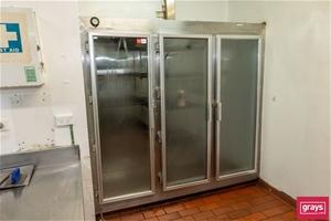 Three Door Display Refrigerator