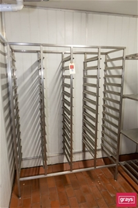 Four Bay Coolroom Tray Rack