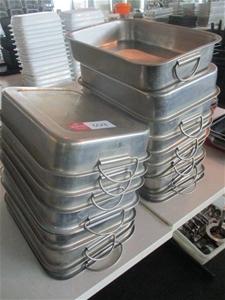 Qty 12 x Metal Baking Trays