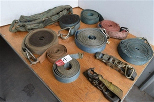 Lot of Assorted Size Truck and Tie Down