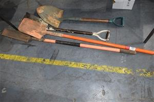 Lot of 4 assorted Shovels