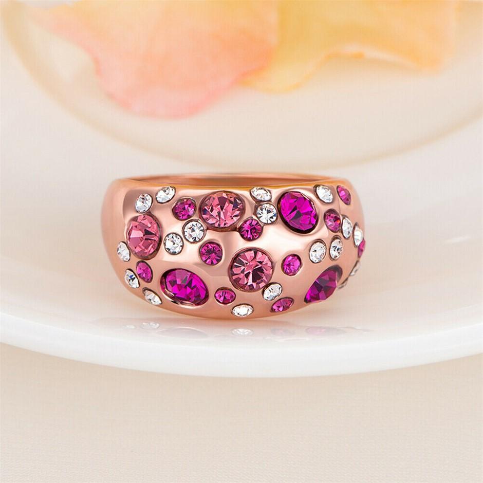 18K Rose Gold filled 12mm Big Wedding Band Ring Women's