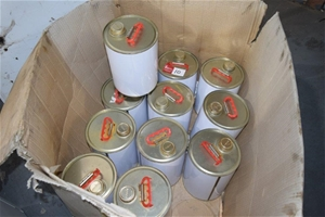 Lot of 12x 5 Litre Metal Fuel Cans