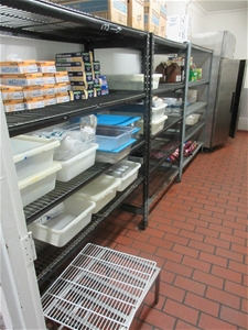 3x Metal Shelving (Content not included)