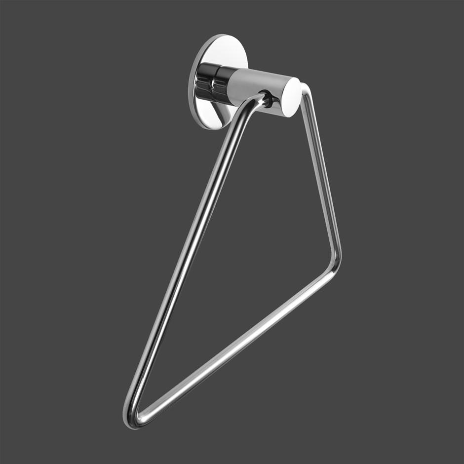 Zevi Self Adhesive Round Chrome Hand Towel Holder Drill Free