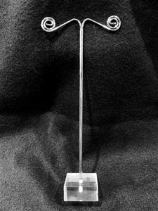 10 x EARRING STANDS - Acrylic & Iron. Mi