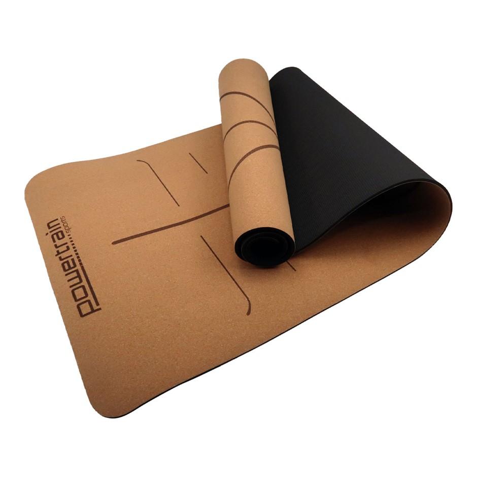Powertrain Cork Yoga Mat Carry Straps Home Gym Pilate Exercise Body Line