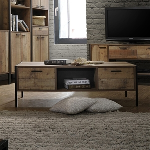 Coffee Table 2 Drawers Particle Board St