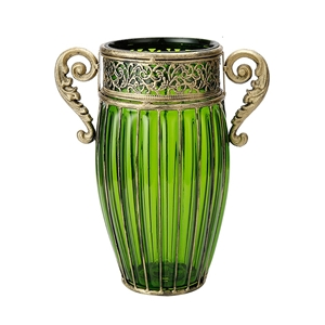 SOGA Green European Colored Glass Decor