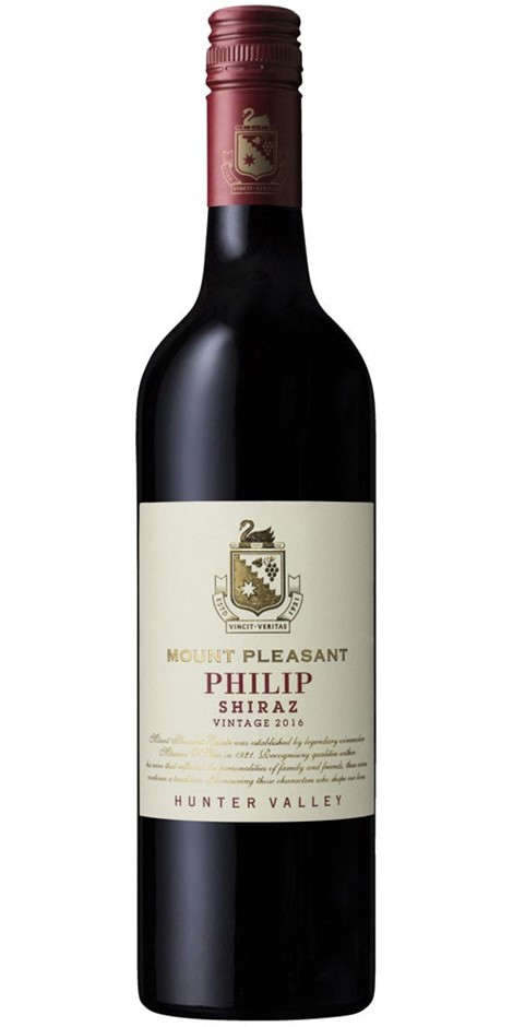 Mount Pleasant Philip Shiraz 2016 (6x 750mL) Hunter Valley, NSW.