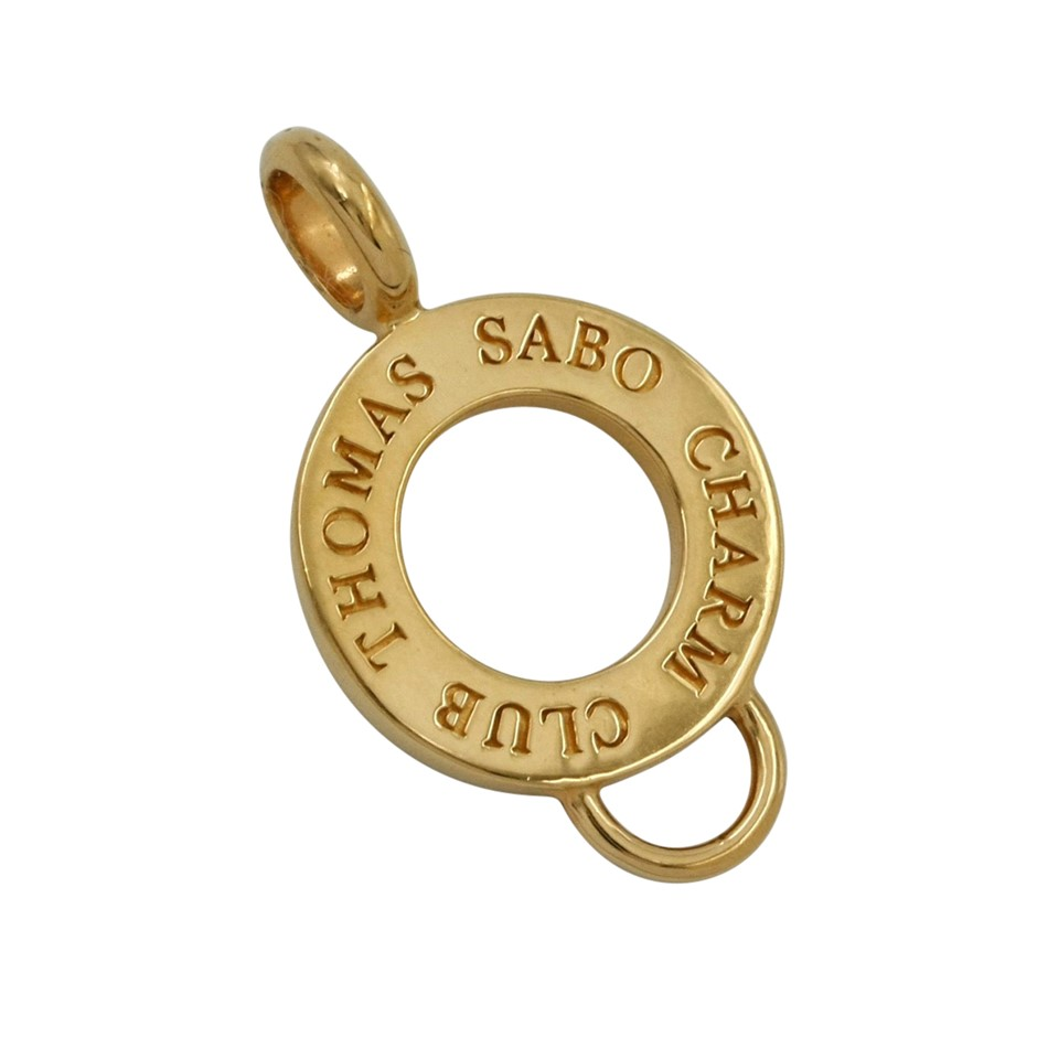 Thomas Sabo Yellow Gold Plated Charm Carrier.