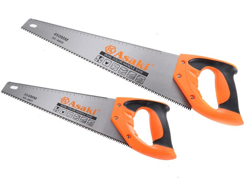 2 x ASAKI Hand Saws, Sizes: 350mm & 450mm (SN:AK-8657-59) (277153-126)