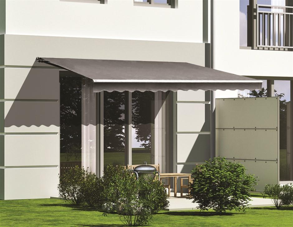 Motorised Outdoor Folding Arm Awning Retractable Sunshade Canopy 5.0mx2.5m