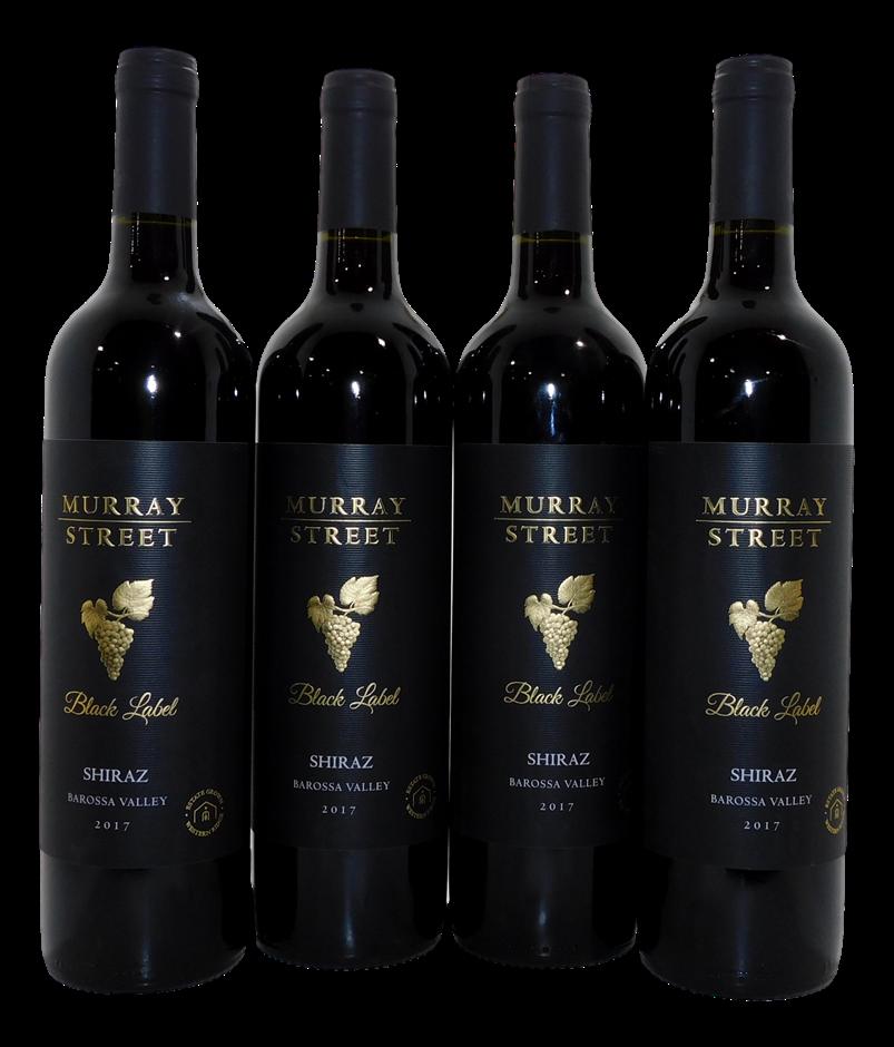 Murray Street Black Label Barossa Shiraz 2017 (4x 750mL) SA. Cork