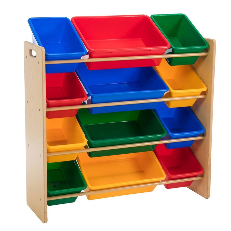 Delsun Toy Organiser - 12 Bin Shelf Storage