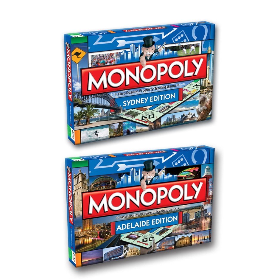 2PK Monopoly Board Game Sydney & Adelaide Edition