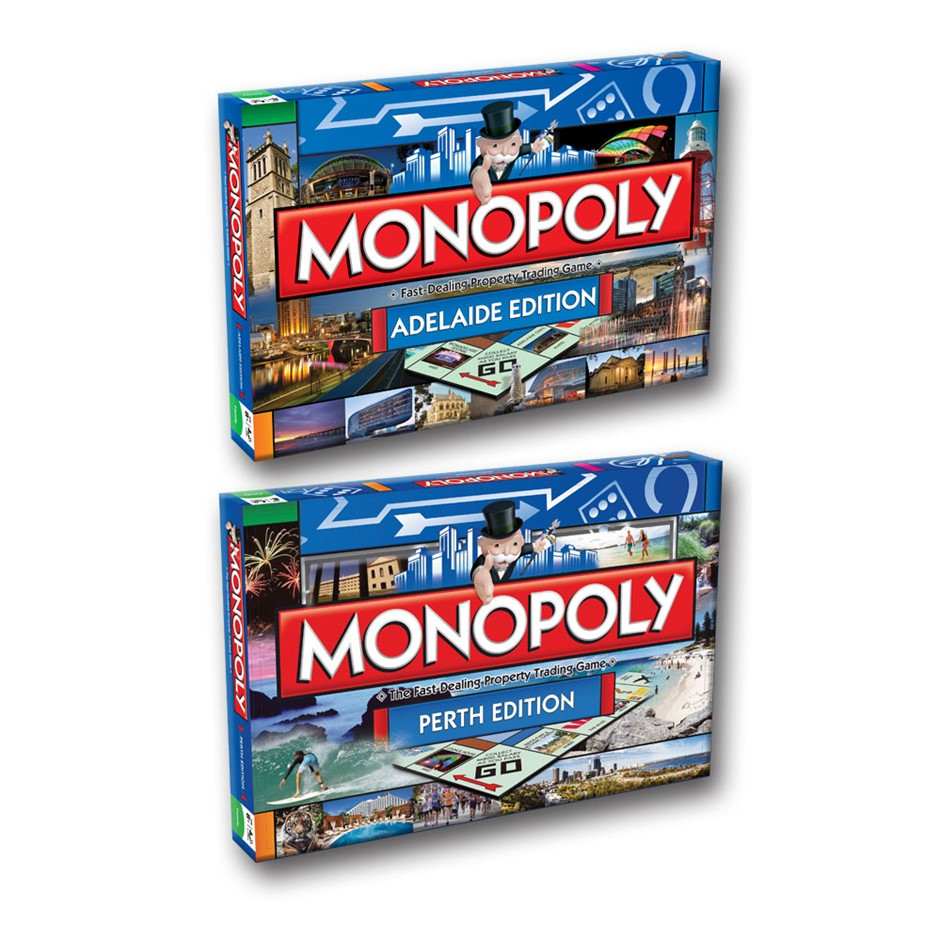 2PK Monopoly Board Game Perth & Adelaide Edition