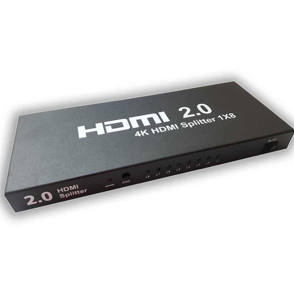 Xcessories HDMI 2.0v 4k@60hz HDMI Splitter 1x8