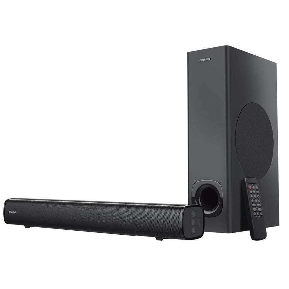 Creative Stage 2.1 High Performance Monitor Soundbar Black