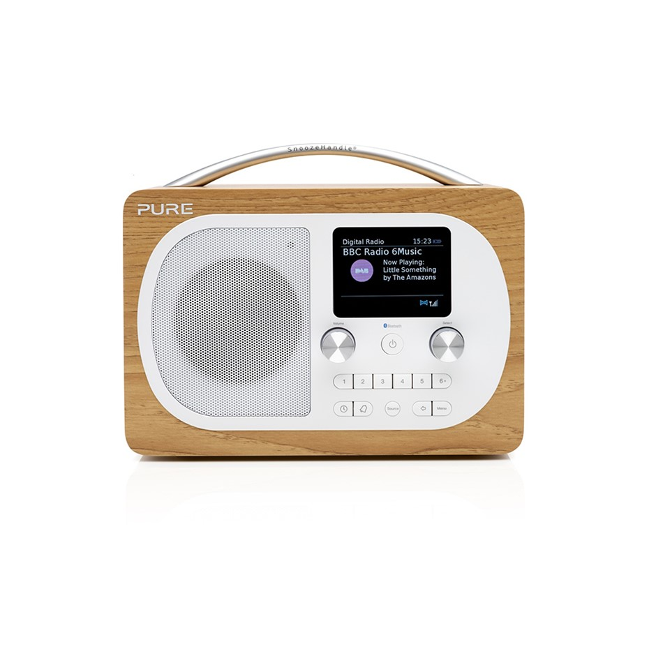 Pure Evoke H4 Radio - Oak