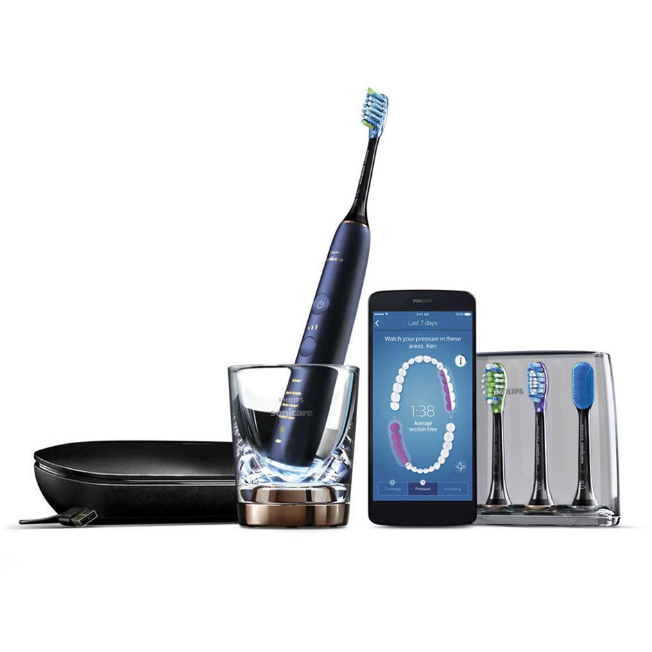 Sonicare DiamondClean Smart 9700 Lunar Blue w/ App - Black
