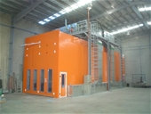 Truck Spray Booth, Screw Air Compressor System