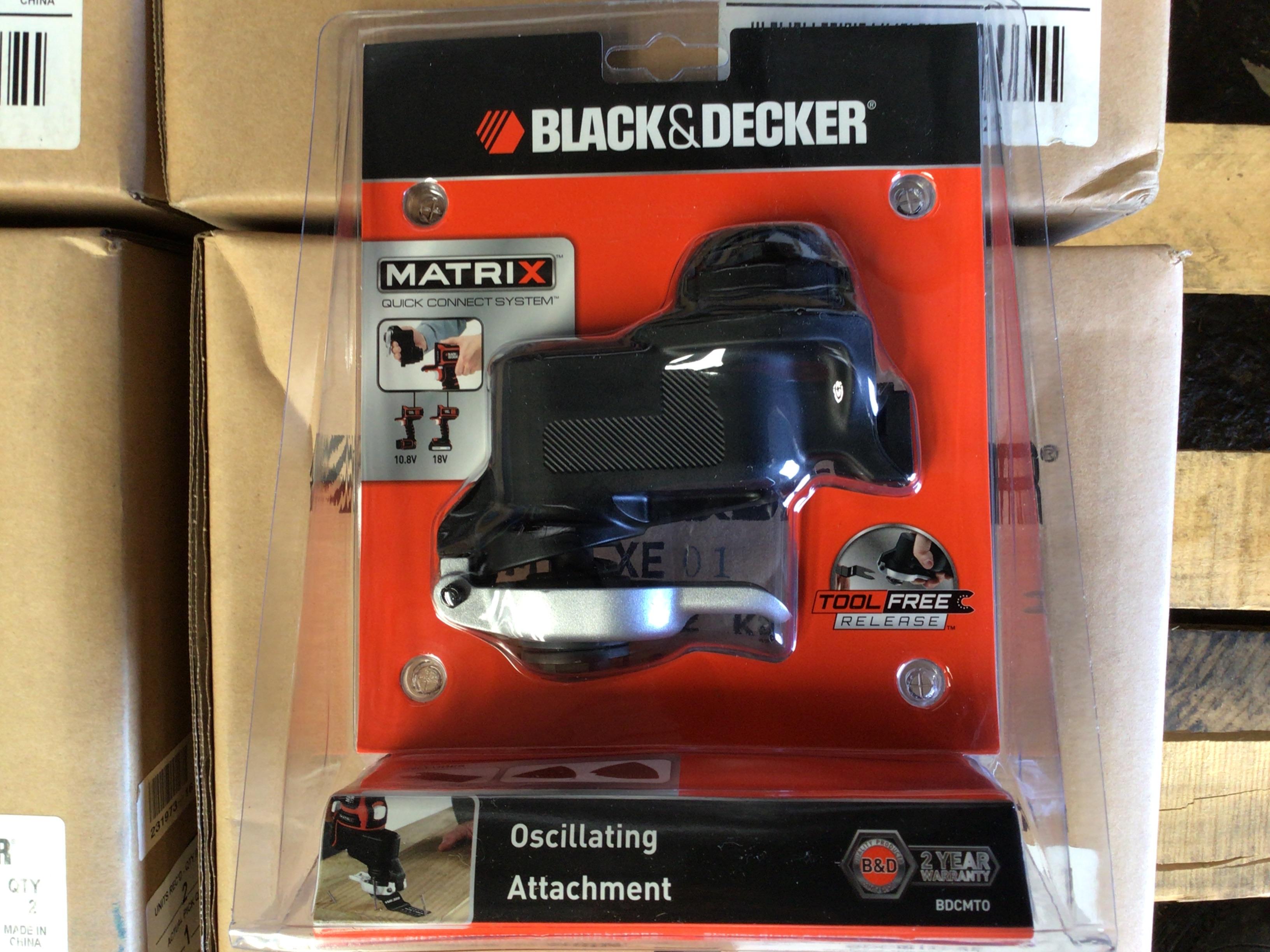 Qty 4x boxes Black & Decker Oscillating attachments.