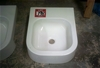 White ceramic basin. 410mm wide x 510mm. As is