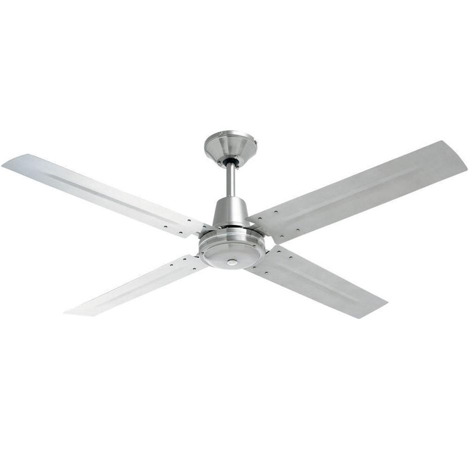 Heller Tyler 50W 1200mm Brushed Stainless Steel Ceiling Fan