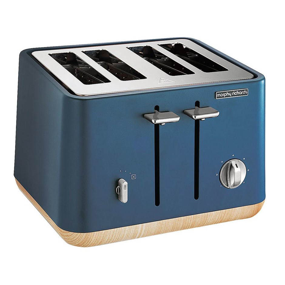 Morphy Richards Scandi Aspect 4 Slices Toaster Deep Blue