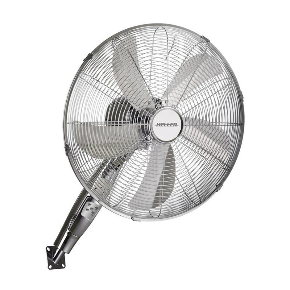 Heller 40cm Chrome Wall Fan with Remote