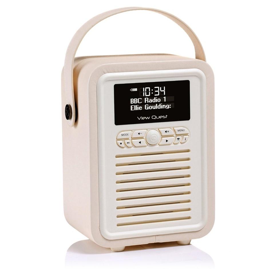 Cream View Quest Retro Mini DAB Digital Radio/USB/AUX/BT Portable Speaker