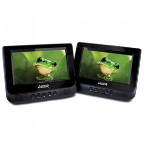 "Laser Portable Dvd Player Dual 7"" Screen"