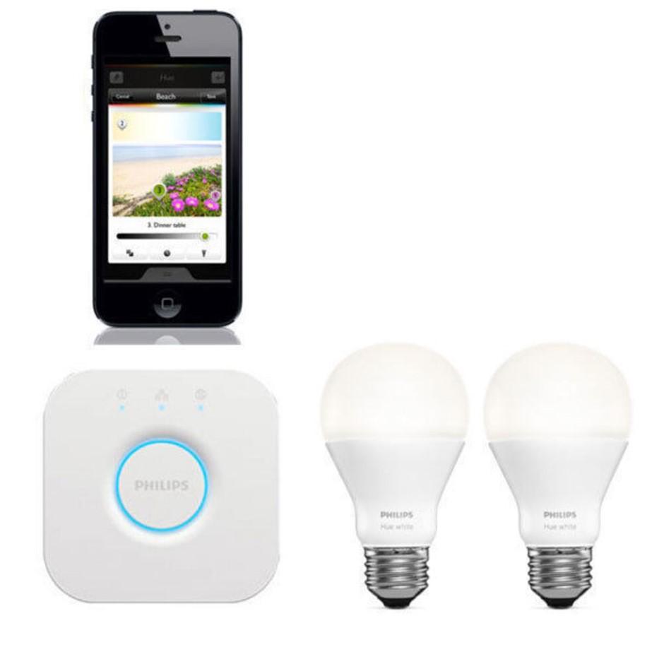 Philips HUE White E27 Wireless Lighting Starter Kit