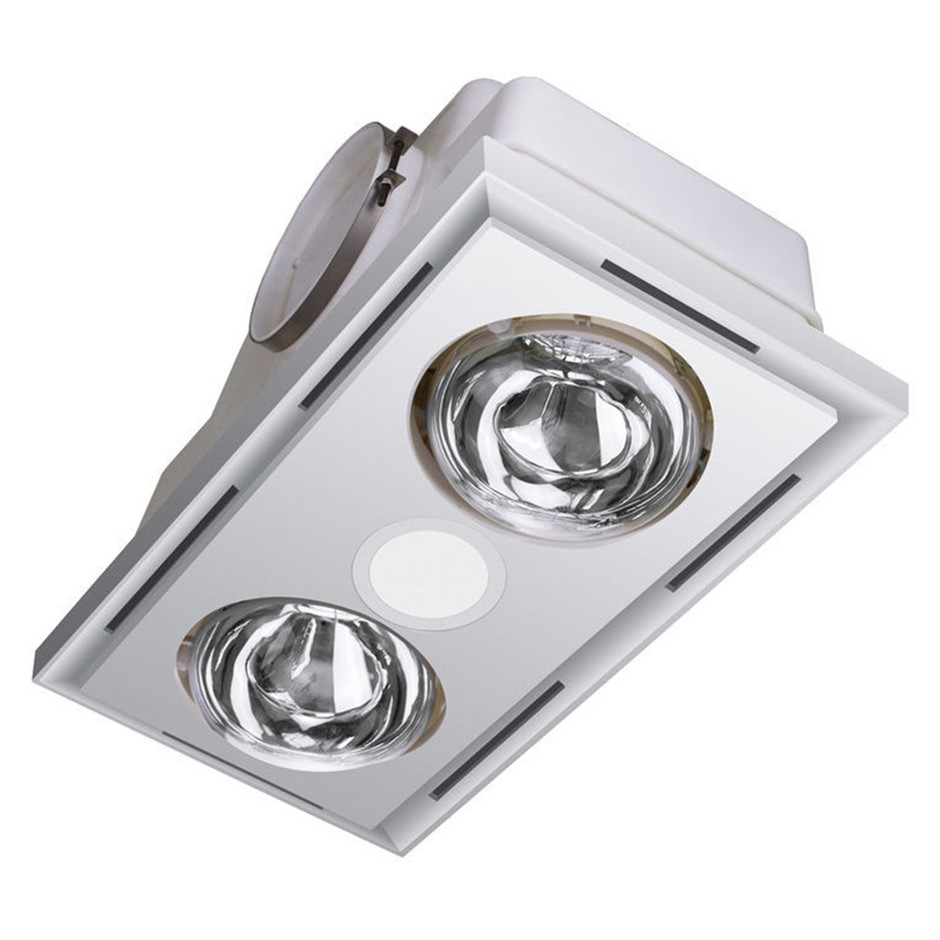 Heller 3 in 1 Ceiling Bathroom Exhaust - White