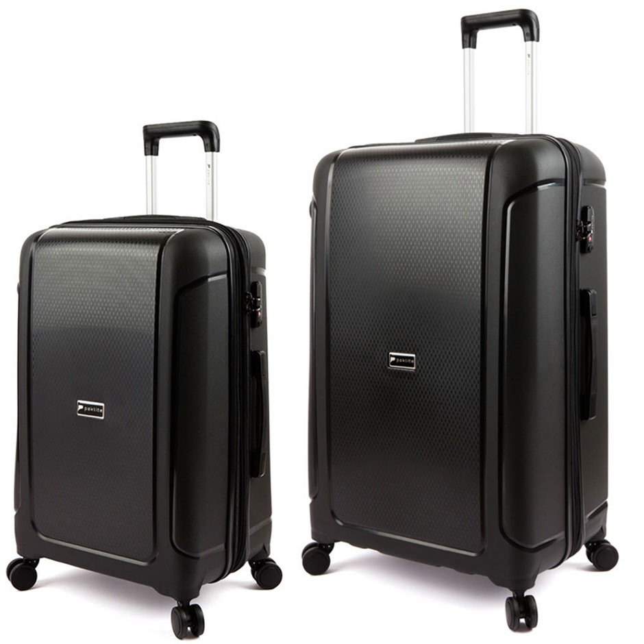 Paklite Twilite Cabin and Medium Luggage Black